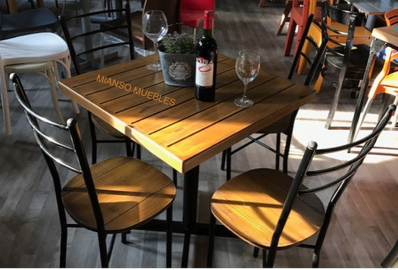 Mesa Con 4 Sillas Restaurantes Bares Cafeterias