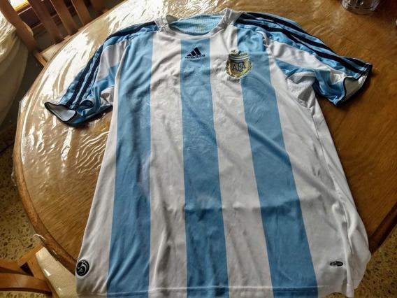 Camiseta Argentina Titular Campeón 2008 Original Excelente