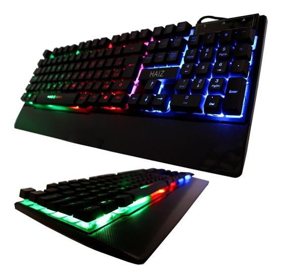 Teclado Gamer Led Rgb Tecla Ghost Luminoso Neon Usb Hz-100