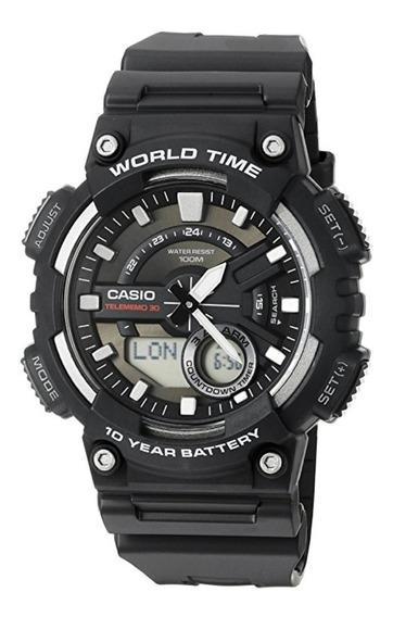 Relógio Casio Analógico E Digital Aeq110w-1av
