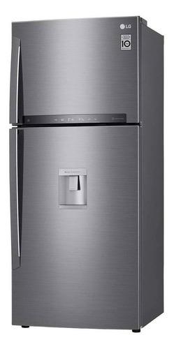 Imagen 1 de 5 de Heladera inverter no frost LG LT41AGP platinum silver con freezer 397L
