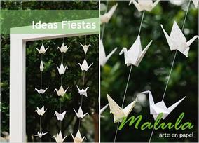 Colgante De Grullas De Papel Para Decoración Eventos Origami