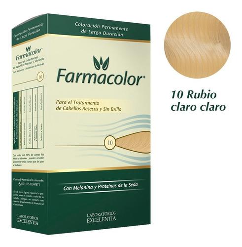 Farmacolor Kit Rubio Cla Clar N° 10 X 1 Estuche. De Fábrica.