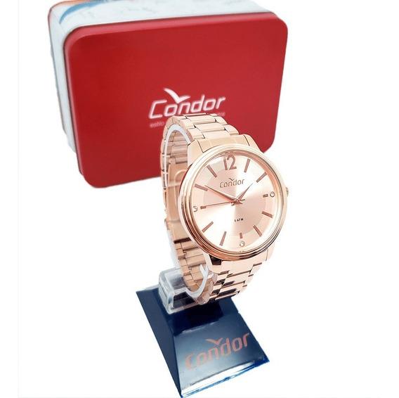 Relógio Condor Feminino Rosé + Brinde