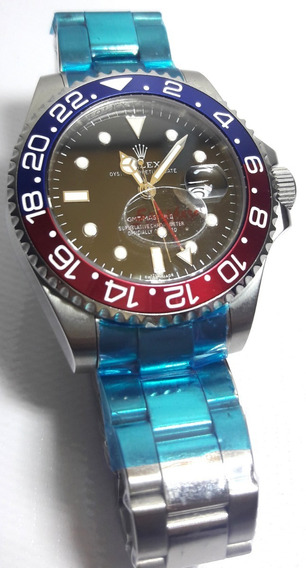 Relógio Sub-mariner Pepsi Suíço Fundo Preto
