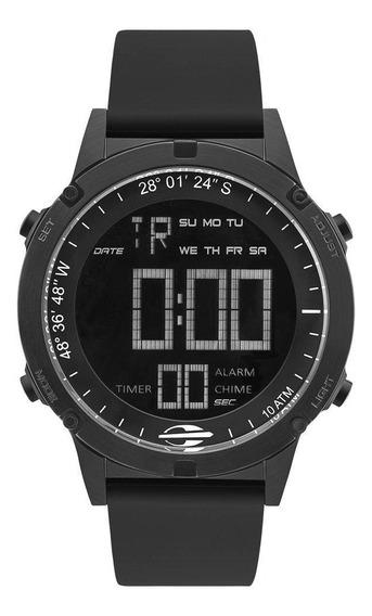 Relógio Mormaii Masculino Ref: Mow13901a/8p Slim Surf Black