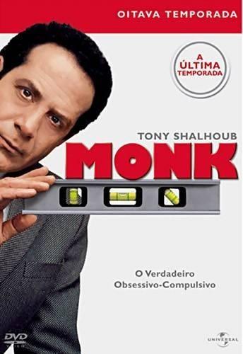 Monk 8ª Temporada - Box Com 4 Dvds - Tony Shalhoub - Novo