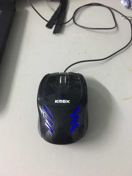 Mouse Kmex Com Led Azul