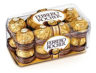 Caja Chocolates Ferrero Rocher De 20 Paquetes De 16 Piezas -