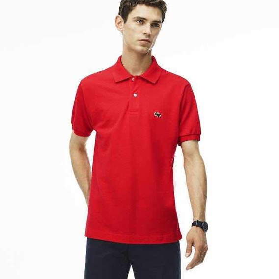 Polo Lacoste Corte Slim Color Granadina Nueva Y Original
