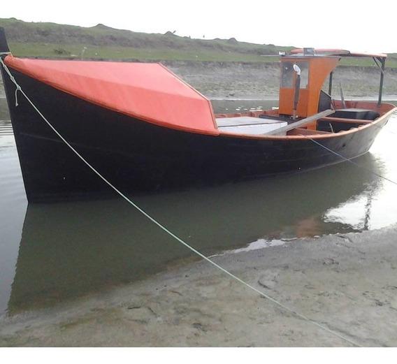 Barco De Pesca Motor Mwm229 Diesiel Caixa F1000 Sonda Garmin