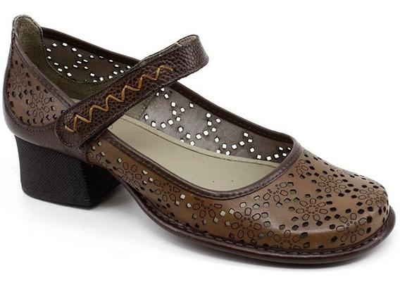 Sapato Retro J.gean Ck0086 Amendoa Loja Pixolé
