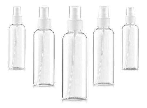Botella Frasco Spray Atomizador 100ml X 5 Alcohol Limpieza