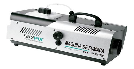 Maquina De Fumaça Skypix Sk Fm 1500 Dmx 220v Profissional