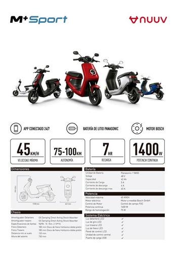 Nuuv Motos Eléctricas Modelo M+sport Únicas En El Pais!!!