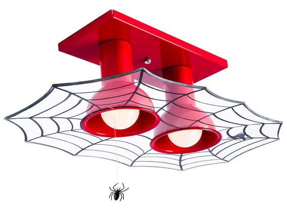 Plafon Luminária Infanti Teia 2 Homem Aranha Quarto Menino