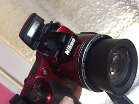 Câmera Semi Profissional Nikon Vermelha
