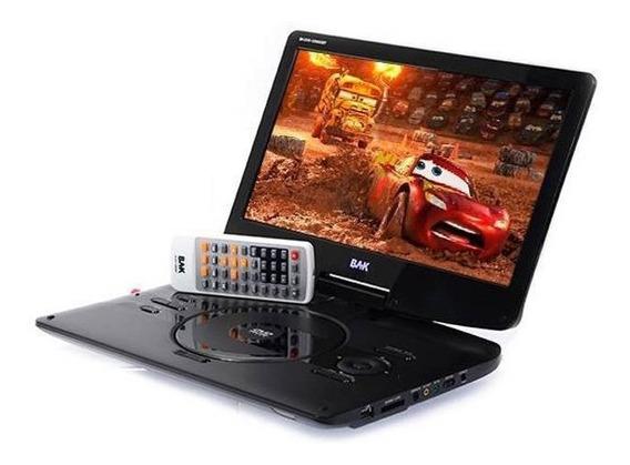 Dvd Portátil Bak 1259 Isdbt De 12.5 Pol Novo Tv Digital Novo