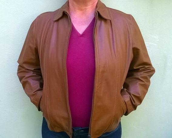 Jaqueta De Couro Legítimo Feminina ( Usada )