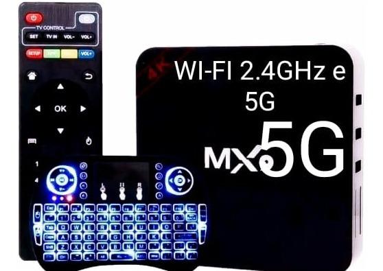 Acessório Smart-tv Box + Mini Teclado Android 9.0 4gb/32gb