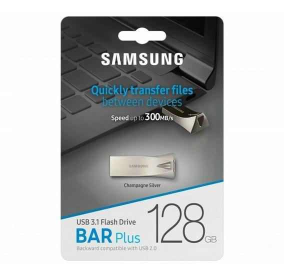 Pen Drive Samsung Bar Plus 128gb Usb 3.1 Flash Drive 300mb/s