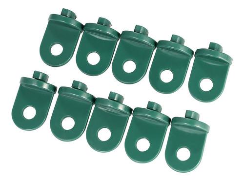 Imagen 1 de 9 de Juego De 10 Ganchos De Plástico Para Invernaderos, 10 Unidad