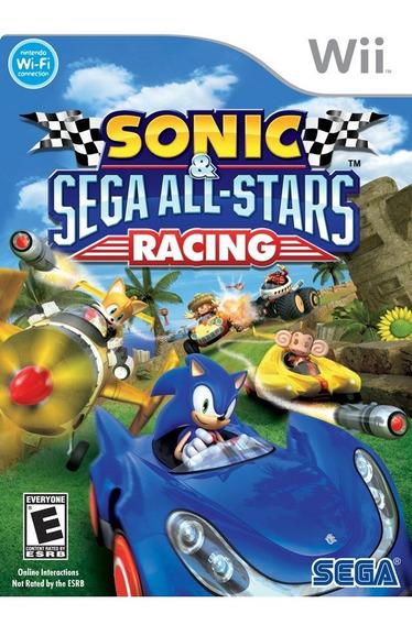 Sonic & Sega All-stars Racing - Wii - Mídia Física Nf