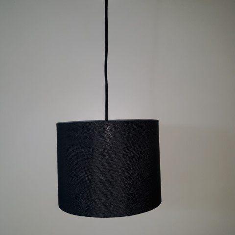 Luminária Pendente Cúpula Preta Para E27