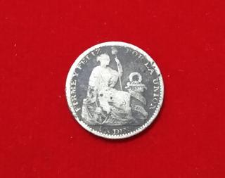 Moneda Un Dino De Plata 9 Decimos Finos Peru 1902
