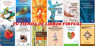 Pack De 12 Libros De Nutricion Y Dietetica