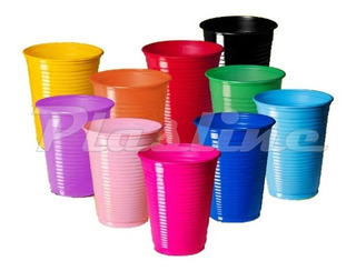 Vaso Plástico Colores 200cc Cumpleaños Fiesta Infantil X 50u