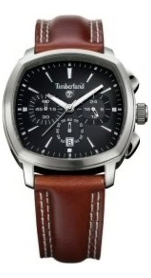 Relógio Masculino Timberland Qt5122101 Pulseira Couro Marrom