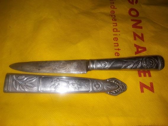 Cuchillo Verijero Antiguo Acero Carb Alpaca 21cm