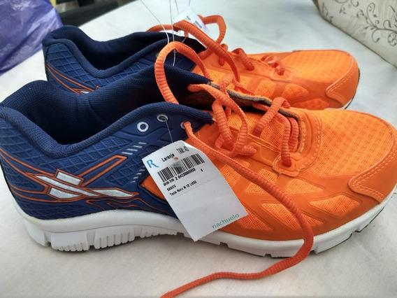 Tênis Runn Running Body Work - Laranja / Azul - Tam. 40
