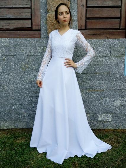 Lindo Vestido Noiva Simpl Vestidos Femeninos De Noiva