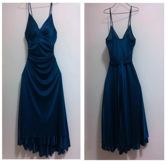 Vestido De Fiesta Azul Talla M Totalmente Nuevo!!!