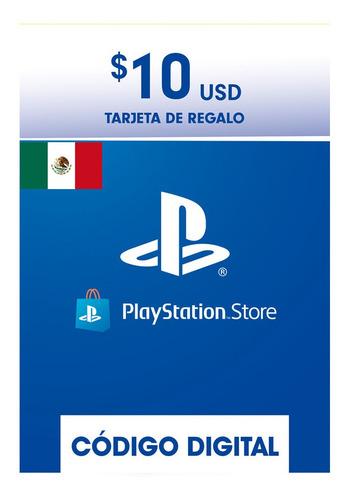 Imagen 1 de 1 de Tarjeta Playstation 10usd Psn Network Mexico