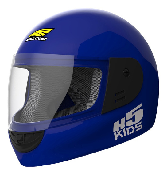 Casco Moto Niño Halcon H5 Kids Integral Azul Tienda Oficial