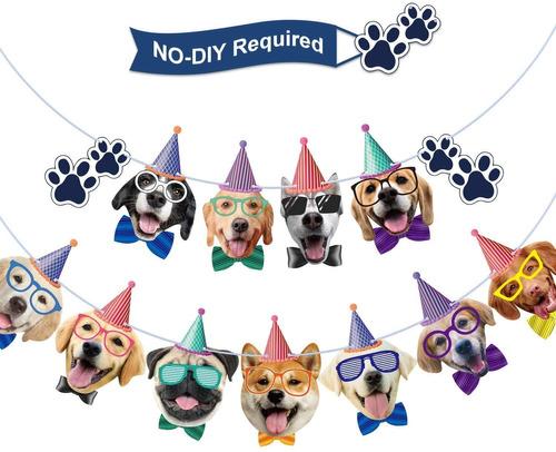 Imagen 1 de 6 de Banner De Cumpleaños Para Perro, Guirnalda De Cumpleaños,