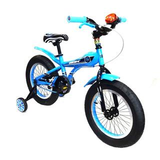 Bicicleta Sbk Fat Rodado 16 Celeste - Racer Bikes