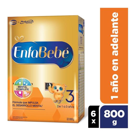 Enfabebe 3 Leche Infantil En Polvo Pack 6 Cajas X 800grs