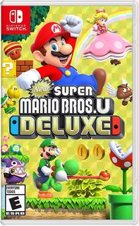 New Super Mario Bros U Deluxe Switch(nuevo,sellado,fisico)