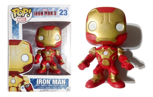 Muñeco Iron Man Símil Funko Pop! #23 Articulado 9 Cm