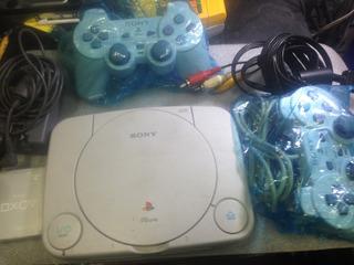 Playstation 1 Slim Chip Juegos Garantia 2 Controles Tienda