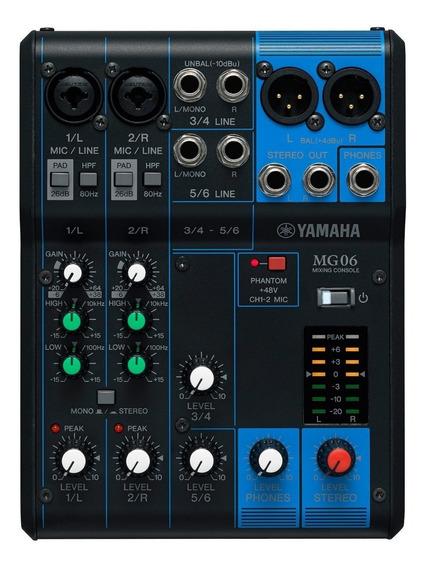 Mesa De Som Yamaha Mg06 6 | Original | Garantia | Nfe