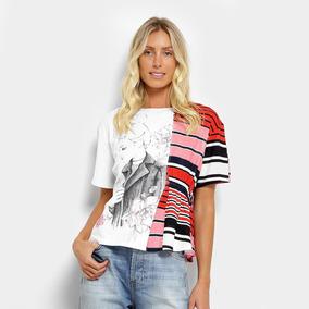 92f0d6433 Blusa Coca-cola Bata Gola V Listrada Feminina por Zattini · Camiseta Coca-coca  Listrada Estampada Feminina