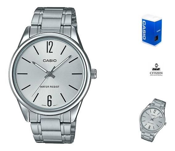 Reloj Casio Mtpv005 Hombre Acero Plata Full