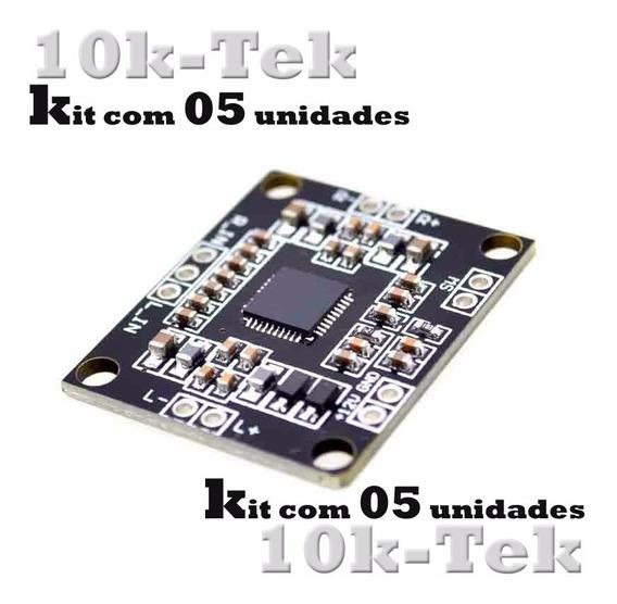 05 X Pam8610 Placa Mini Amplificador Digital De 2 X 15 W