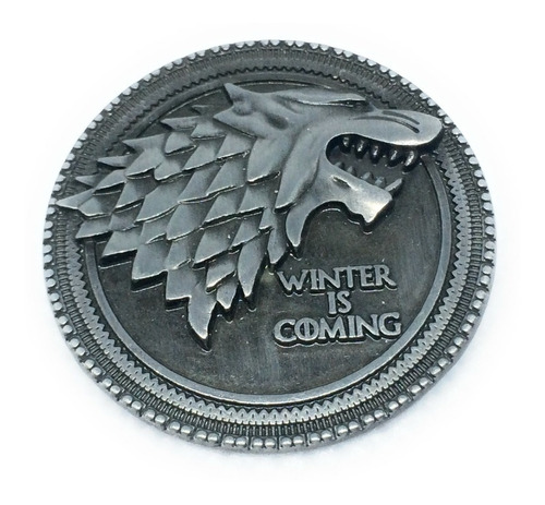 Pin Broche Game Of Thrones Símbolo De La Casa Stark Got
