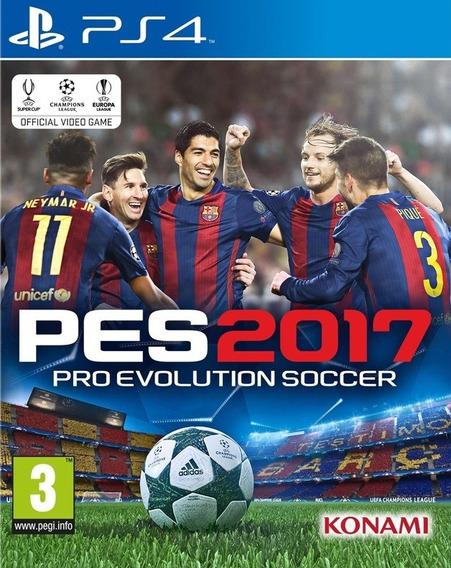 Jogo Pro Evolution Soccer 2017 Ps4 Pes 17 Game Mídia Física